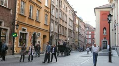 Editorial Footage, Market Place, Warsaw Old Town, Stare Miasto, Poland, Europe - stock footage
