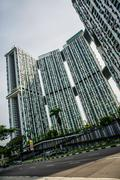 Pinnacle Huge Apartment bulding in Singapore Stock Photos