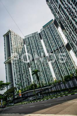 Stock photo of Pinnacle Huge Apartment bulding in Singapore