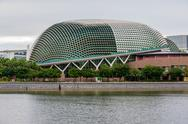 The Esplanade Theaters on the Marina Bay in Singapore. Stock Photos