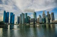 Stock Photo of Panorama of Marina Bay in Singapore