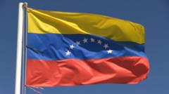 Venezuela-flag-southamerica Stock Footage