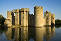 Castle and moat Stock Photos