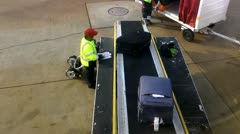 Baggage, Luggage, and Suitcases at Airport - stock footage