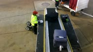 Stock Video Footage of Baggage, Luggage, and Suitcases at Airport