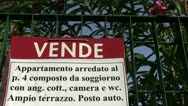Italy  - vende (for sale - real estate) Stock Footage