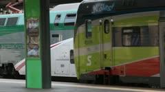 Stock Video Footage of Train at Garibaldi Station, Milan