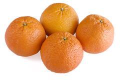 Stock Photo of Four scarlet oranges