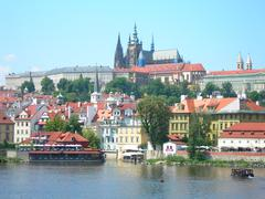 View of Hradcany and the castle, Prague (Czech Republic) - stock photo