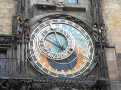 Prague astronomical clock or Prague Orloj Stock Photos