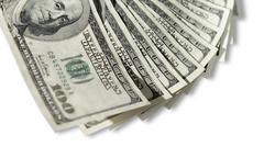 US Dollar bills - stock photo