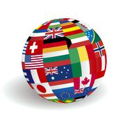 global world of flags - stock illustration