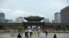 Seoul Geunjeongmun, Geunjeong Gate, Gyeongbokgung Palace, South Korea - stock footage