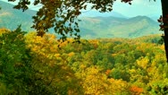 Beautiful fall autumn scene mountain Stock Footage