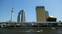 Tokyo Skytree Japan Tallest Tower in the World, Highway Sumida Sky Tree Office Stock Footage