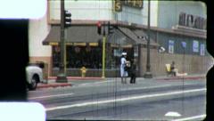 STREET SCENE Compton Black African American 1960s Vintage Film Home Movie 5256 Stock Footage