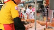 Seoul Market, Street Food, Traditional Asian Korean Food, Namdaemun Market Stock Footage