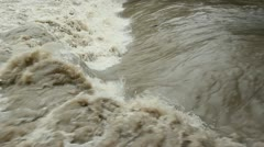 Flood river. Smooth meets rough. Stock Footage