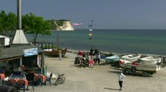 Fishermen´s Village Vitt near Kap Arkona on Rügen Island Baltic Sea, Germany Stock Footage