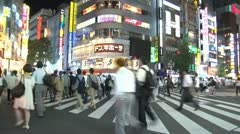 Shinjuku traffic pedestrain timelapse Stock Footage