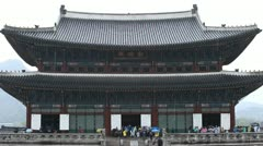 Gyeongbokgung Palace, South Korea, Seoul Geunjeongmun, Geunjeong Gate Stock Footage