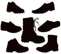 Mens footwear Stock Illustration