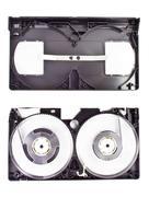 Vhs Videokasetin eristetty valkoisella pohjalla Kuvituskuvat