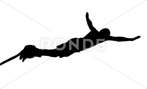 Stock Illustration of male bungee jumper