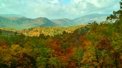 Autumn scene tennessee mountains Stock Footage