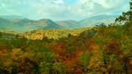 Autumn scene tennessee mountains Stock Footage