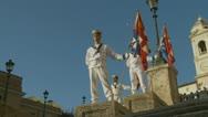 Italian Navy parade in Rome (16) Stock Footage