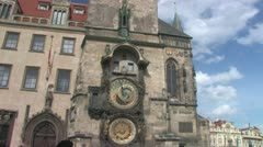 The Prague Astronomical Clock Stock Footage