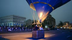 Kiev aeronautic sport club air balloon on October 20, 2012 in Kiev, Ukraine Stock Footage