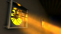 Factory ventilation fan, air, flow, instrument, facility. Stock Footage