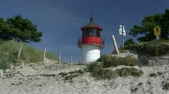Lighthouse on Hiddensee Island, Baltic Sea - Northern Germany Stock Footage