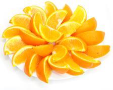 Bit of the orange decomposable beautifully around Stock Photos