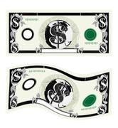 dollar bill note - stock illustration