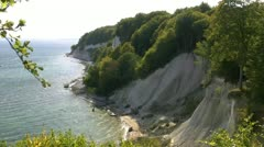 Chalk Cliffs on Rügen Island - Baltic Sea, Germany Stock Footage
