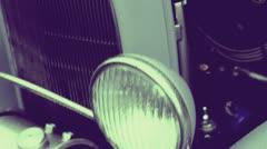 Vintage Automobile Headlights Stock Footage