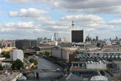 Berlin areal view Stock Photos