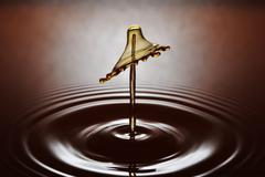 Waterdrop Sculpture 024 - stock photo
