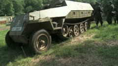 WW2 German Half Track and Soldiers Stock Footage