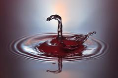 Waterdrop Sculpture 064 - stock photo