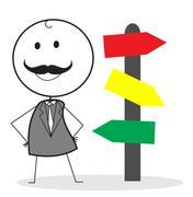 Boss directions Stock Illustration
