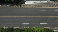 Aerial View of Shenzhen Main Road, Car Traffic, China, SEZ, Business District Stock Footage
