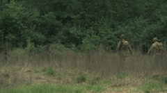 WW2 Soldiers Marching Away Stock Footage