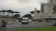 Building Vitorio Emanuele II, Rome Italy,Traffic Urban. Stock Footage