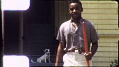 BLACK MAN African American 1970 (Vintage Retro Film Home Movie Footage) 5267 - stock footage