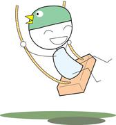 Kid swing Stock Illustration
