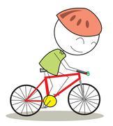 Bicycle kid Stock Illustration